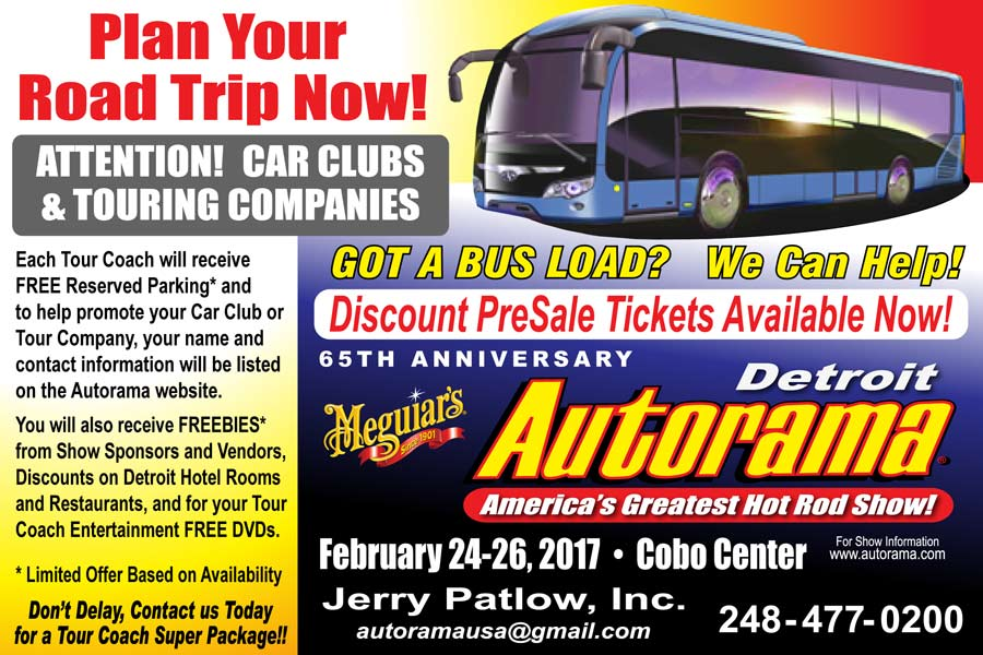Detroit Autorama Bus Tour